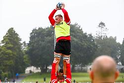 Ed Holmes during the warm up  - Mandatory by-line: Ryan Hiscott/JMP - 18/08/2018 - RUGBY - Carmarthen Park - Carmarthen, Wales - Scarlets v Bristol Bears - Pre-season friendly