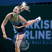 Maria Sharapova of Russia during their TEB BNP Paribas WTA Championships at Sinan Erdem Arena in Istanbul Turkey on Tuesday, 25 October 2011. Photo by TURKPIX