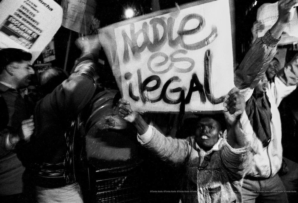 Nobody is illegal. Barcelona, Spain.