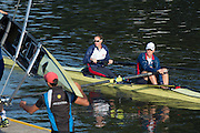 Amsterdam. NETHERLANDS. GBR W2- Bow Helen GLOVER and Heather STANNING, moving away from the boat pontoons. 2014 FISA  World Rowing. Championships.  De Bosbaan Rowing Course . 08:32:34  Thursday  21/08/2014  [Mandatory Credit; Peter Spurrier/Intersport-images]