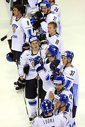 Finland after ice-hockey match Finland vs USA at Qualifying round Group F of IIHF WC 2008 in Halifax, on May 11, 2008 in Metro Center, Halifax, Nova Scotia, Canada. (Photo by Vid Ponikvar / Sportal Images)