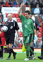 Photo: Ed Godden.<br />Bristol City v Doncaster Rovers. Coca Cola League 1. 28/10/2006. Man of The Match, Adriano Basso (Bristol City keeper) leaves the pitch at the end of the game.
