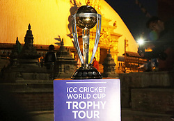 KATHMANDU, Oct. 26, 2018  Photo taken on Oct. 26, 2018 shows the ICC(International Cricket Council) World Cup trophy displayed as it has arrived for the ICC Cricket World Cup Trophy Tour at Swaymbhu in Kathmandu, Nepal, Oct. 26, 2018. (Credit Image: © Sunil Sharma/Xinhua via ZUMA Wire)