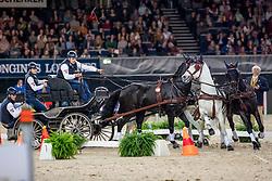 Geertds Glenn, BEL, Maestoso LI, Maestoso XLV-1-1, Silver, Szellem<br /> FEI World CupTM Driving - Stuttgart 2018<br /> © Hippo Foto - Stefan Lafrentz<br /> 16/11/2018