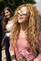 Colombian singer Shakira visits the northern Lebanese mountain village of Tannourine, Lebanon on July 13, 2018. In this village where her paternal grandmother was born, Shakira plants a cedar and has a park named after her. Photo by Eric Dib-Balkis Press/ABACAPRESS.COM