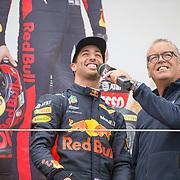 NLD/Zandvoort/20180520 - Jumbo Race dagen 2018, Daniel Ricciardo en Olav Mol