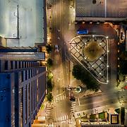 Aerial photo, Kansas City, Missouri, above 10th & Main Streets
