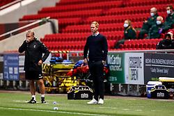 Bristol City head coach Dean Holden looks on - Rogan/JMP - 24/09/2020 - Ashton Gate Stadium - Bristol, England - Bristol City v Aston Villa - Carabao Cup Third Round.