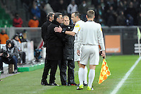 Christophe GALTIER  / Ruddy BUQUET  - 25.01.2015 - Saint Etienne / PSG  - 22eme journee de Ligue1<br />