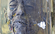 close up of a face at an anatomy museum in a hospital in Cairo used by medical students studying anatomy