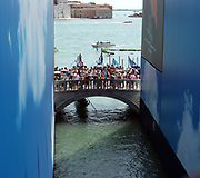 The Bridge of Sighs in Venice, Italy. The bridge was the link between the Doge's Palace and the prison.