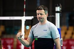 head coach of Slovenia reacts to won point during volleyball match between Slovenia and Austria in CEV Volleyball European Silver League 2021, on 6 of June, 2021 in Dvorana Ljudski Vrt, Maribor, Slovenia. Photo by Blaž Weindorfer / Sportida