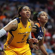 UNCASVILLE, CONNECTICUT- JUNE 5:  Erlana Larkins #2 of the Indiana Fever in action during the Indiana Fever Vs Connecticut Sun, WNBA regular season game at Mohegan Sun Arena on June 3, 2016 in Uncasville, Connecticut. (Photo by Tim Clayton/Corbis via Getty Images)