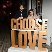 Camilla Thurlow and Jamie Jewitt arrives at Choose Love shop launch at Foubert's Place, Carnaby on 22 November 2018, London, UK.