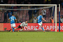 November 1, 2017 - Naples, Italy - Jorginho of Napoli scores second goal during the UEFA Champions League match between Napoli v Manchester City at San Paolo Stadium, Naples, Italy on 1 November 2017. (Credit Image: © Giuseppe Maffia/NurPhoto via ZUMA Press)