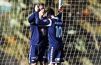 Fotball ,12. mars 2013 privatkamp ,La Manga <br /> Kristiansund - Strømmen 1-2<br /> <br /> Mahmoud El Haj , Kr.sund julber med Liridon Kalludra (10) , Kr.sund