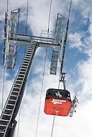 The Bridger Gondola at Jackson Hole Mountain Resort, Jackson Hole, Wyoming.