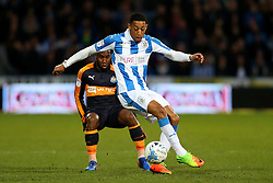 Rajiv van La Parra of Huddersfield Town and Vurnon Anita of Newcastle United - Mandatory by-line: Matt McNulty/JMP - 04/03/2017 - FOOTBALL - The John Smith's Stadium - Huddersfield, England - Huddersfield Town v Newcastle United - Sky Bet Championship