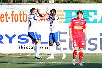 Fotball <br /> Adeccoligaen<br /> Nybergsund Stadion<br /> 16.05.2011<br /> Nybergsund IL Trysil  v Sandefjord   4-2<br /> Foto: Dagfinn Limoseth, Digitalsport<br /> Remond Mendy , Nybergsund (R)