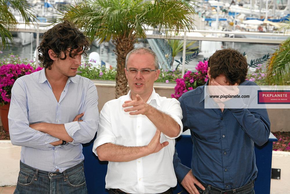 Festival de Cannes - Photocall Mon frère est fils unique - Daniele Luchetti - Elio Germano - Riccardo Scarmarcio - 21/05/2007 - JSB / PixPlanete