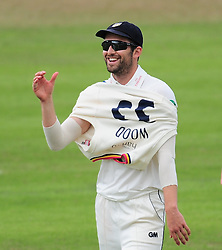 Mark Wood of Durham looks on.  - Mandatory by-line: Alex Davidson/JMP - 04/08/2016 - CRICKET - The Cooper Associates County Ground - Taunton, United Kingdom - Somerset v Durham - County Championship