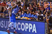 DESCRIZIONE : Supercoppa 2015 Semifinale Dinamo Banco di Sardegna Sassari - Grissin Bon Reggio Emilia<br /> GIOCATORE : Brenton Petway<br /> CATEGORIA : Fair Play Before Pregame<br /> SQUADRA : Dinamo Banco di Sardegna Sassari<br /> EVENTO : Supercoppa 2015<br /> GARA : Dinamo Banco di Sardegna Sassari - Grissin Bon Reggio Emilia<br /> DATA : 26/09/2015<br /> SPORT : Pallacanestro <br /> AUTORE : Agenzia Ciamillo-Castoria/L.Canu