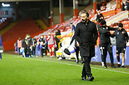 Aberdeen Manager Derek McInnes leaves the pitch during the Scottish Premiership match between Aberdeen and Hamilton Academical FC at Pittodrie Stadium, Aberdeen, Scotland on 20 October 2020.