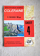 Discoverer series 1:50,000 ordnance survey map of Coleraine, Northern Ireland sheet 4