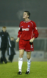 Falkirk's Kevin James cele a Falkirk win..St Johnstone v Falkirk..30/11/02©Michael Schofield.