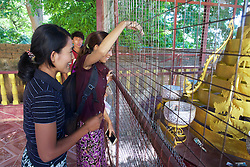 People Making Donations At Lawka Nanda