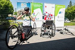 Primoz Jeralic, Slovenian paralympic rider during Media day of the National Paralympic Committee (NPC) of Slovenia, on May 26, 2016 in Novo mesto, Slovenia. Photo by Vid Ponikvar / Sportida