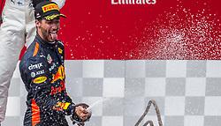 09.07.2017, Red Bull Ring, Spielberg, AUT, FIA, Formel 1, Grosser Preis von Österreich, Rennen, im Bild 3. Platz Daniel Ricciardo (AUS) Red Bull Racing // 3nd placed Australian Formula One drive Daniel Ricciardo of Red Bull Racing during the Race of the Austrian FIA Formula One Grand Prix at the Red Bull Ring in Spielberg, Austria on 2017/07/09. EXPA Pictures © 2017, PhotoCredit: EXPA/ Dominik Angerer
