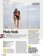 "N Photo Magazine Tearsheet ""Photo Finish"" Page 1"