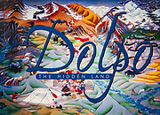 Dolpo - the Hidden Land, remote corner of Nepal near Mustang, book cover of traditional painting.