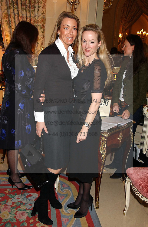 Left to right, GRAINNE STEPHENSON and ALISON HENRY at a ladies lunch in aid of the NSPCC held at The Ritz, Piccadilly, London on 7th March 2006.<br /><br />NON EXCLUSIVE - WORLD RIGHTS