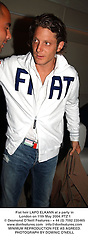 Fiat heir LAPO ELKANN at a party in London on 11th May 2004.PTZ 1