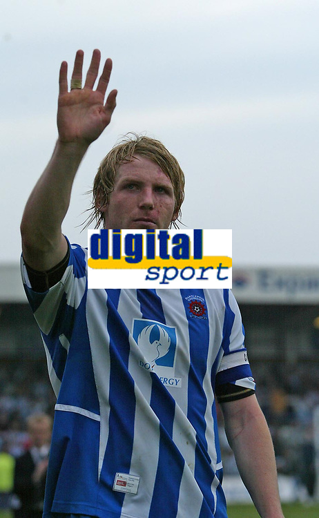 Photo: Andrew Unwin.<br />Hartlepool United v Port Vale. Coca Cola League 1. 06/05/2006.<br />A dejected Ritchie Humphreys of Hartlepool.