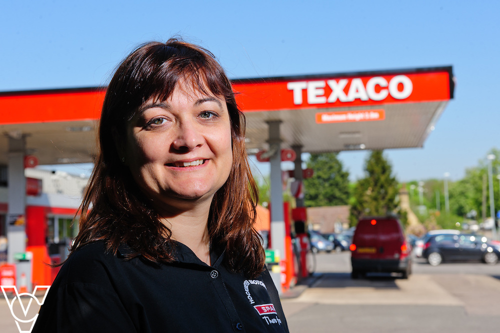 Texaco filling station part of Hockmeyer Motors in Holdingham, Sleaford, Lincolnshire.  Pictured is Rachael Hockmeyer.<br /> <br /> Picture: Chris Vaughan Photography<br /> Date: May 9, 2016