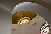 Interior of the Church of the Beatitudes on the northern coast of the Sea of Galilee in Israel. The traditional spot where Jesus gave the Sermon on the Mount. Galilee, Israel