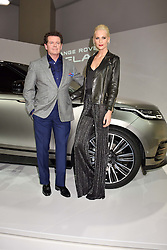 Gerry McGovern and Poppy Delevingne at the Range Rover Velar Global Reveal at The Design Museum, London England. 1 March 2017.