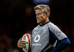Coach Simon Easterby of Ireland<br /> <br /> Photographer Simon King/Replay Images<br /> <br /> Friendly - Wales v Ireland - Saturday 31st August 2019 - Principality Stadium - Cardiff<br /> <br /> World Copyright © Replay Images . All rights reserved. info@replayimages.co.uk - http://replayimages.co.uk