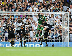 28.08.2010, White Hart Lane, London, ENG, PL, Tottenham Hotspur vs Wigan Athletic, im Bild Chris Kirkland manges to punch the ball away, EXPA Pictures © 2010, PhotoCredit: EXPA/ IPS/ D. Cawthorne*** ATTENTION *** UK AND FRANCE OUT! / SPORTIDA PHOTO AGENCY