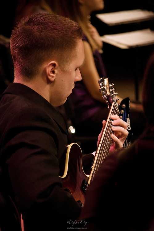 Jeff Ralston on guitar playing with the Lab Band at Rowan University's 41st Annual Jazz Festival.