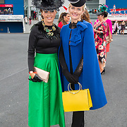 08.10.17.            <br /> Pictured at Limerick Racecourse for the  Keanes Most Stylish Lady competition were, Gretta Peters and Emer Kilroy. Picture: Alan Place