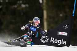 Nadya Ochner (ITA) competes during Qualification Run of Women's Parallel Giant Slalom at FIS Snowboard World Cup Rogla 2016, on January 23, 2016 in Course Jasa, Rogla, Slovenia. Photo by Ziga Zupan / Sportida
