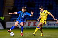 Gillingham FC defender Luke O'Neill (2) and Bristol Rovers midfielder Liam Sercombe (7)  during the EFL Sky Bet League 1 match between Gillingham and Bristol Rovers at the MEMS Priestfield Stadium, Gillingham, England on 12 March 2019.