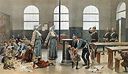 Alsace Lorraine : German army in Alsace Lorraine (France) 1870's