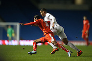 Martin Angha, Swiss U21 International during the UEFA European Championship Under 21 2017 Qualifier match between England and Switzerland at the American Express Community Stadium, Brighton and Hove, England on 16 November 2015.