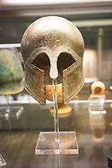 Greek helmet, southern Italy 350BC in the British Museum