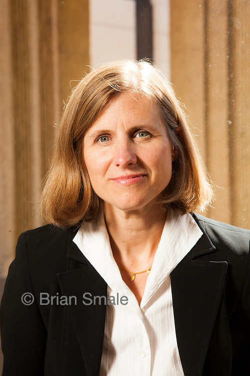 Liz Magill, dean of Stanford Law School, photographed by Brian Smale for Stanford Law Magazine, at Stanford Law campus, Neukom Building.